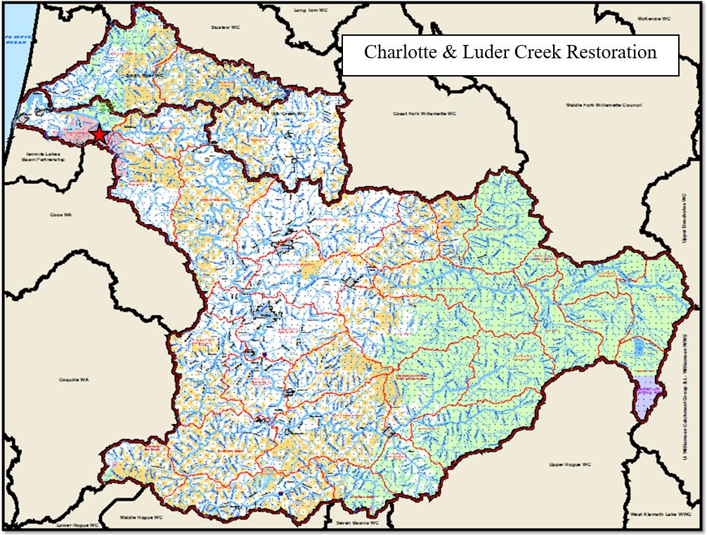 Charlotte & Luder Creek Map