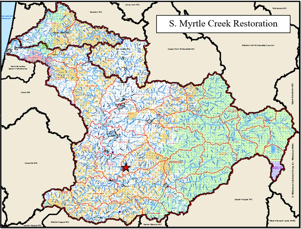 South Myrtle Creek Map