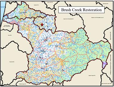 Brush Creek Restoration Map