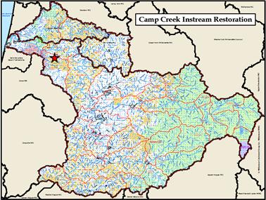 Camp Creek Restoration Map 2014