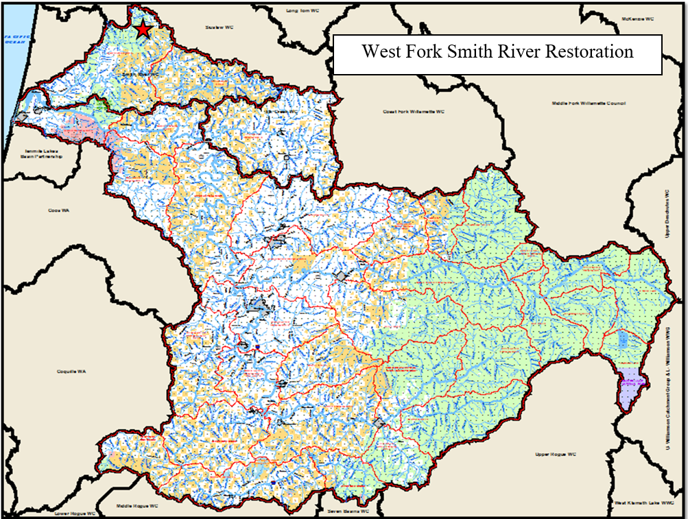 West Fork Smith River Map