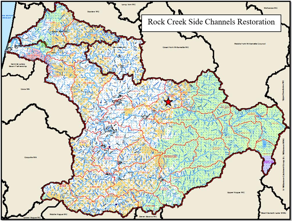 Rock Creek Side Channel Map