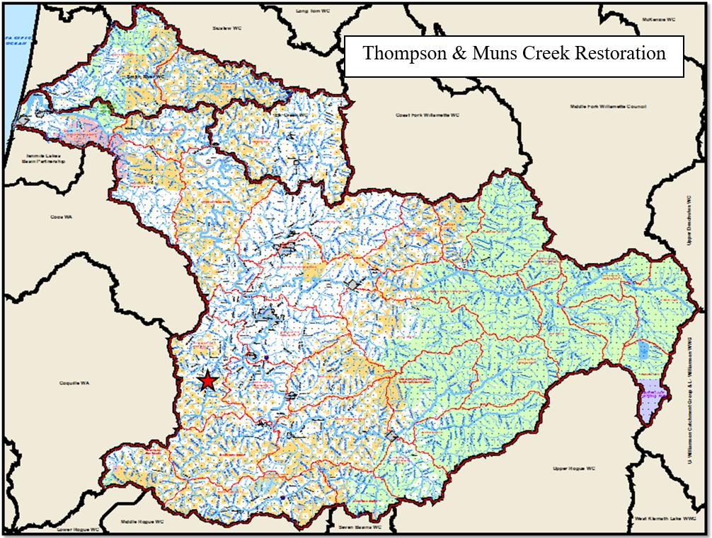 Thompson & Muns Creek Map