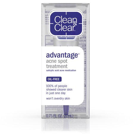 Clean & Clear Advantage Acne Spot Treatment - Acne is a natural part of life. It can be frustrating to see those little bumps on your face, but trust me, DO NOT POP THEM. Instead, I highly recommend Clean & Clear's Advantage Acne Spot Treatment. Put a little product directly on each pimple after you wash your face with cleanser. This stuff works wonders.