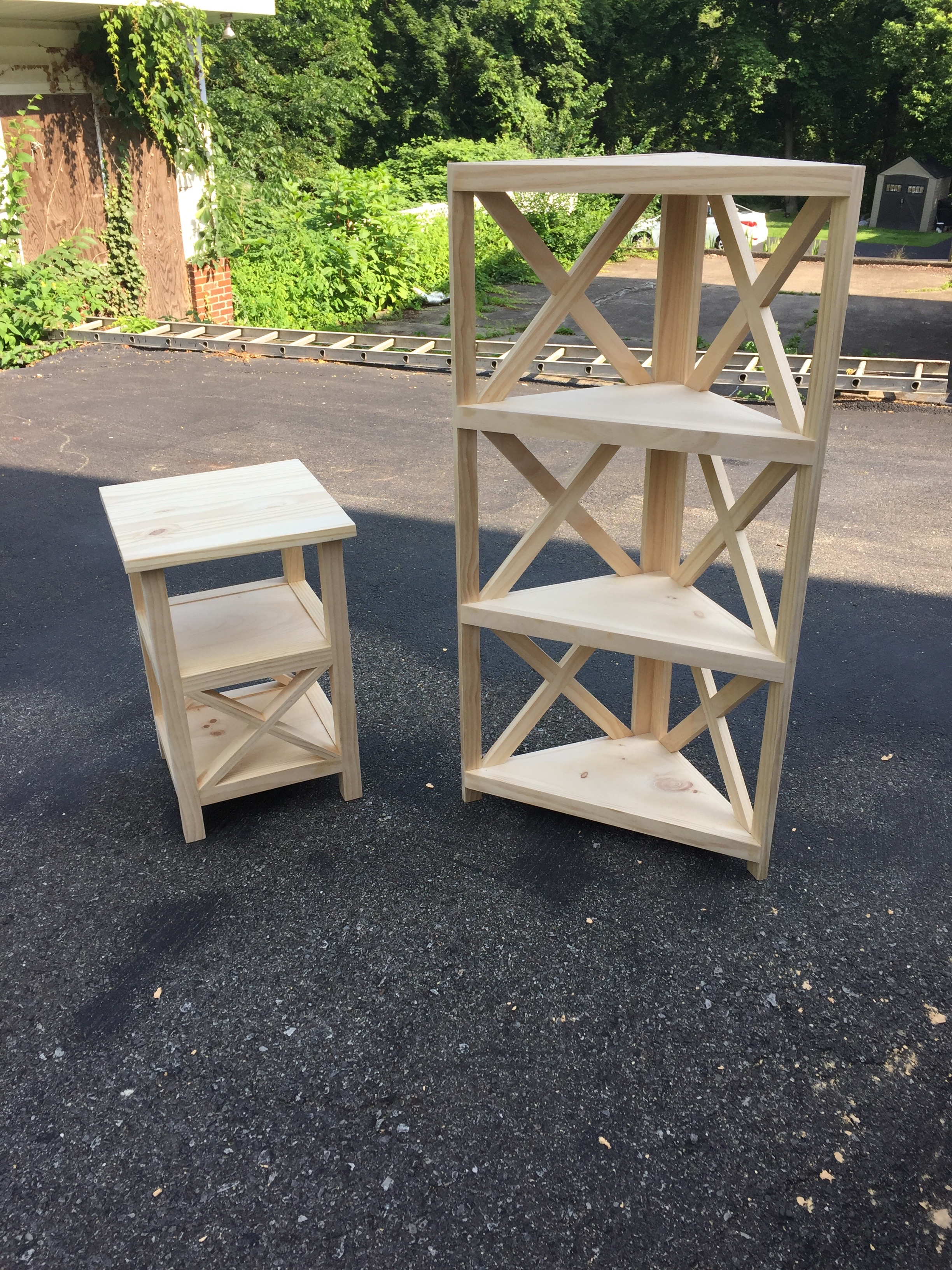 End Table and Corner Shelf
