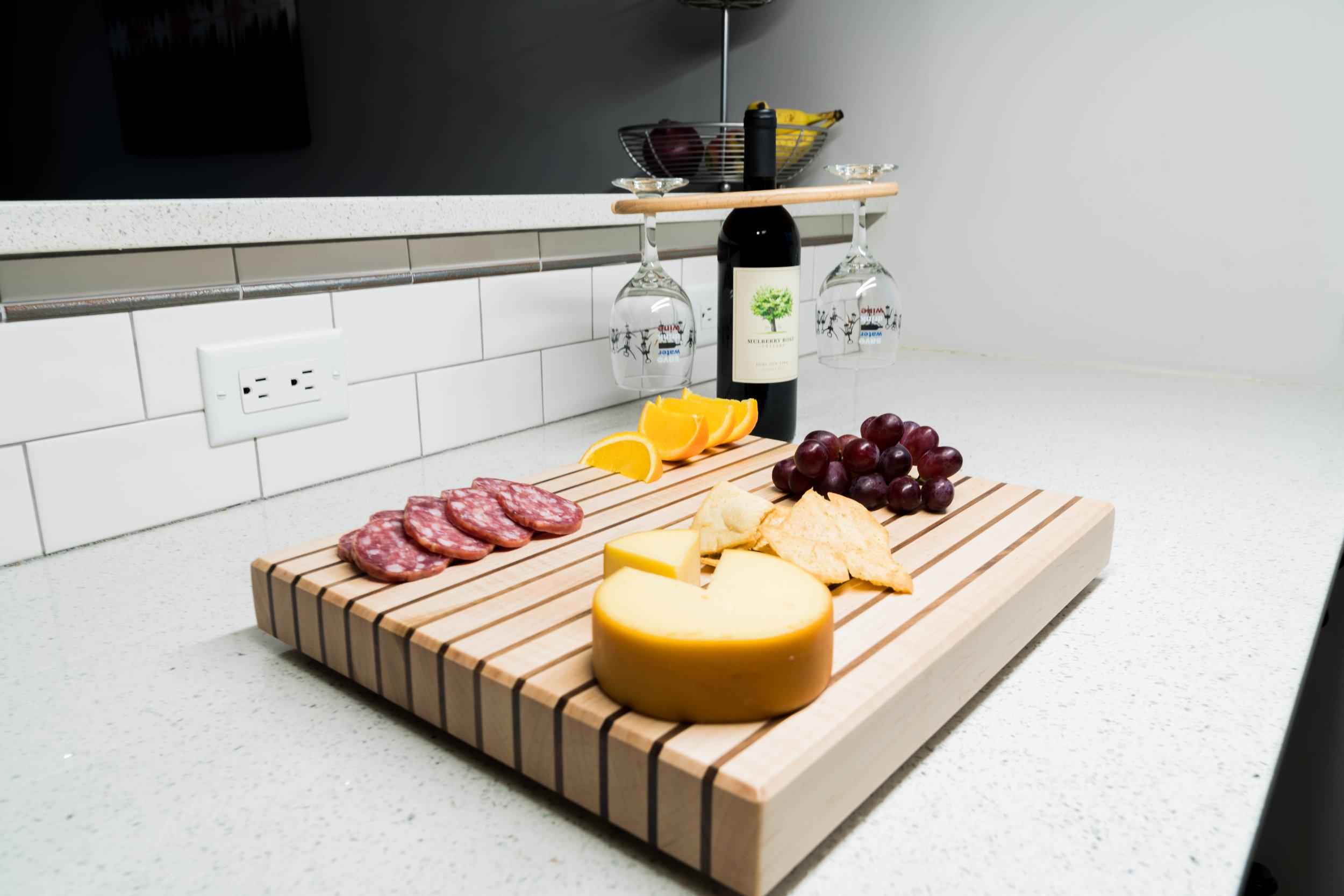 Maple and Walnut edge grain cutting board