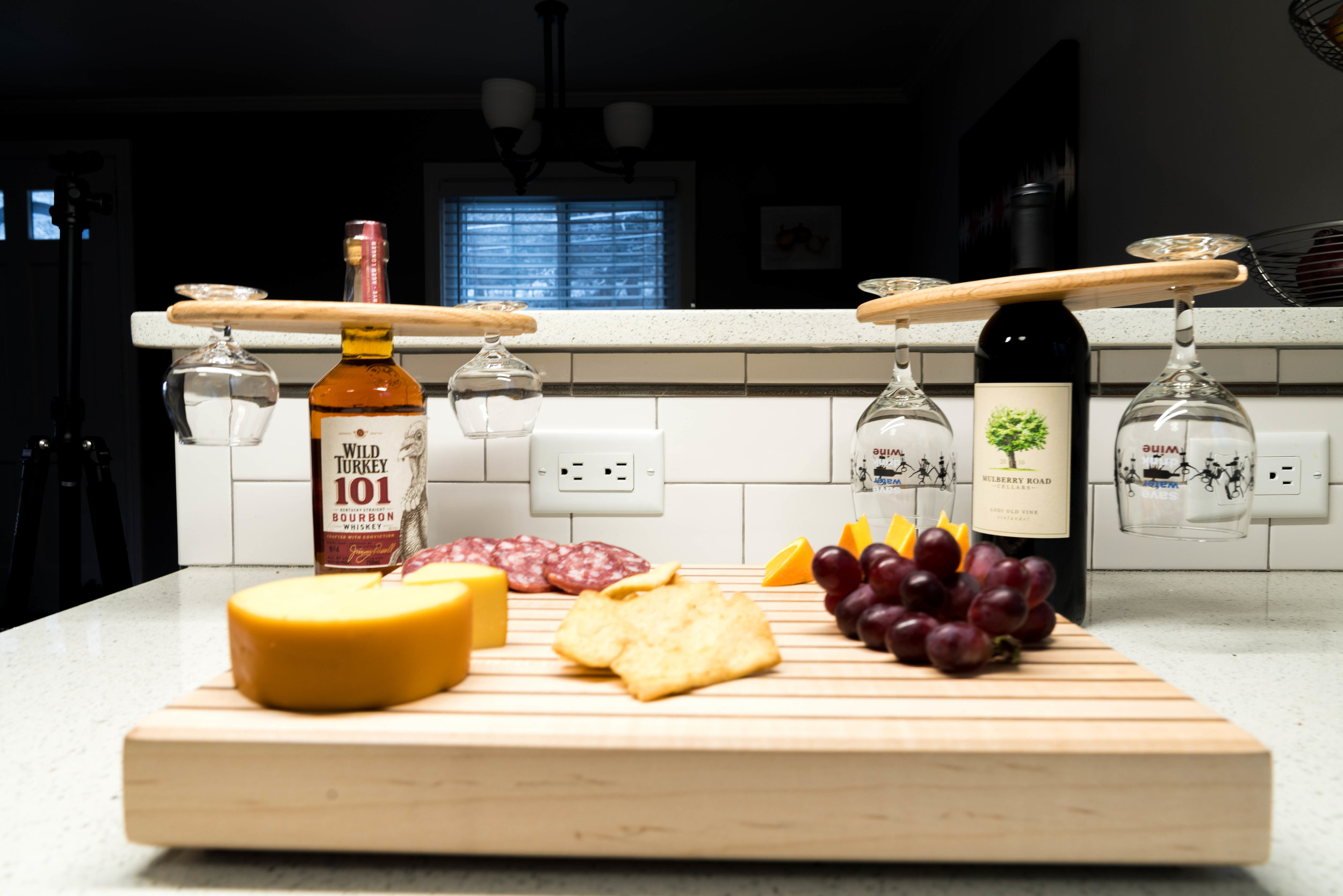 Bottle Caddy and Cutting board