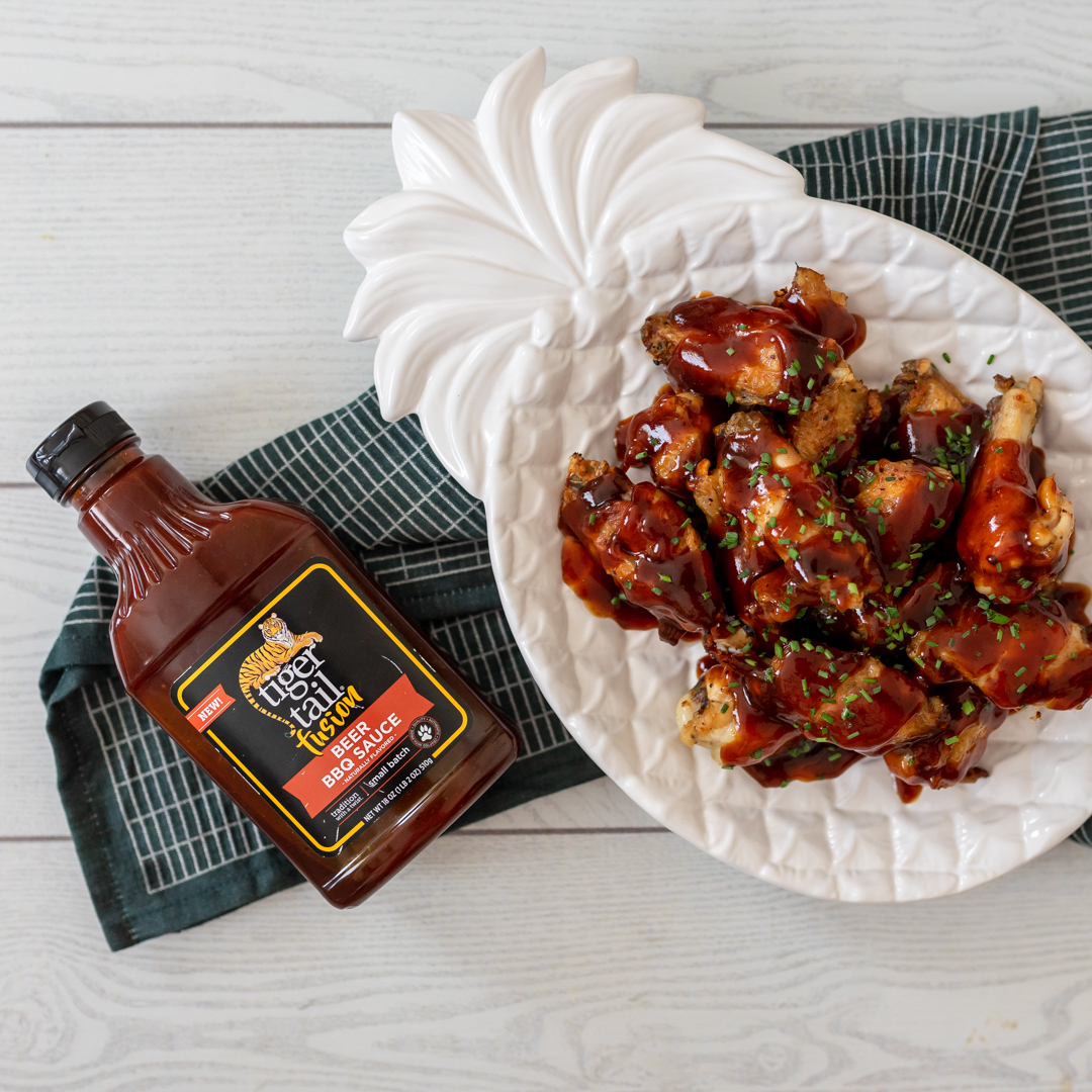 Tigertail Beer BBQ - Tigertail Beer BBQ Sauce is comprised of sweet, tangy and fruity flavors, with a rich and savory Stout seasoning. Spice up your burgers and chicken wings or add some zing to your shredded beef or pork barbecue.