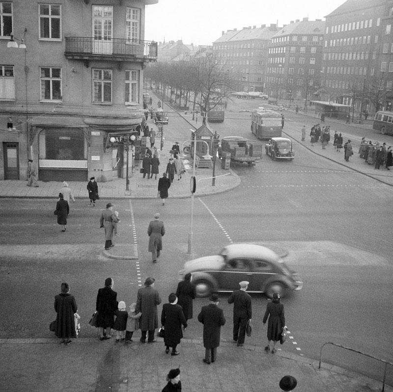 Götgatan Ringvägen 1950