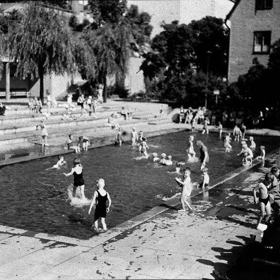 Plaskdammen i Björns Trädgård 1937