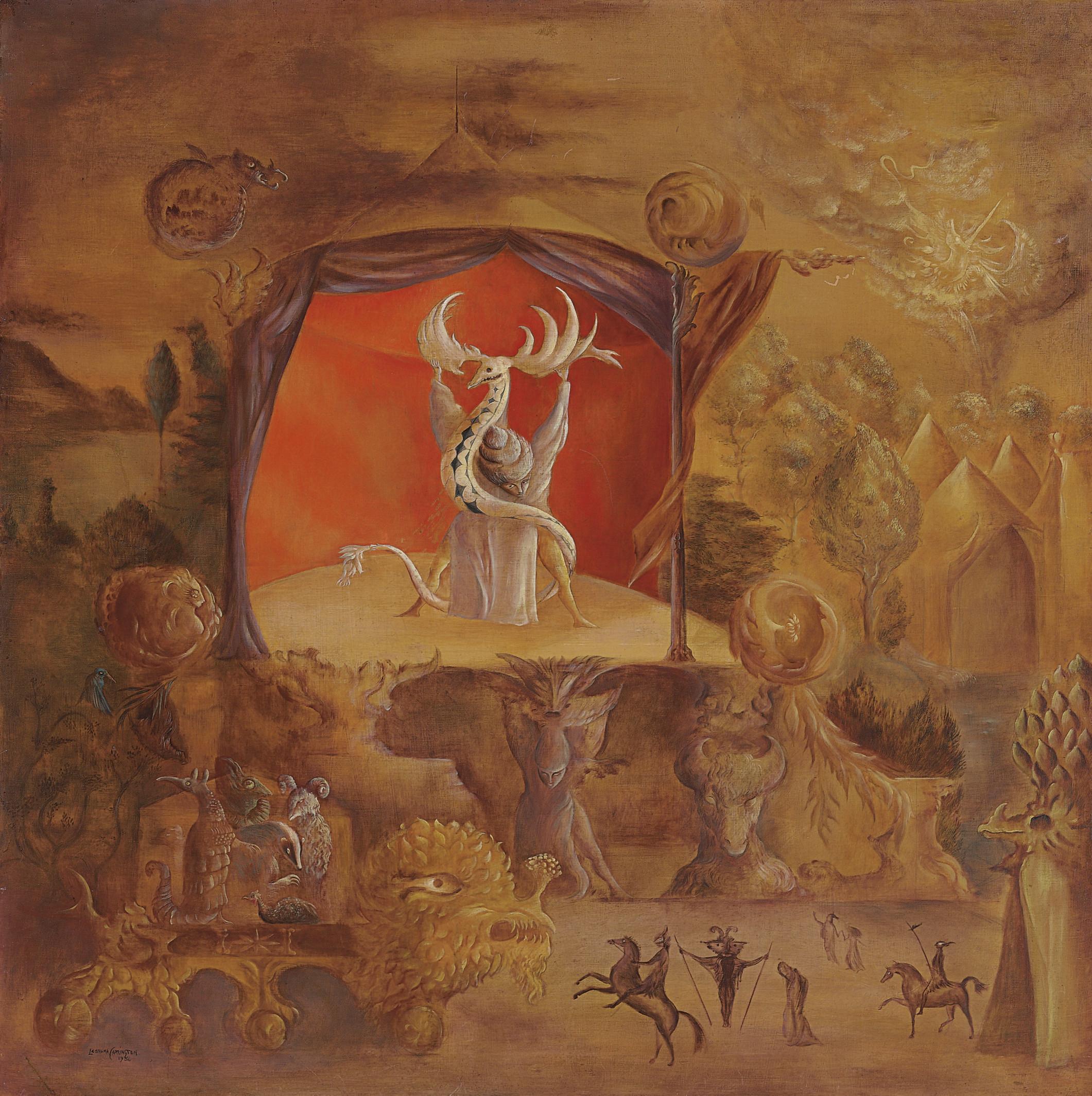 El Juglar , 1954. Leonora Carrington