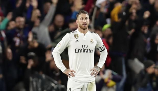 Sergio Ramos despues del error que povocó el cuarto gol blaugrana. (FOTO VÍA: El comercio)