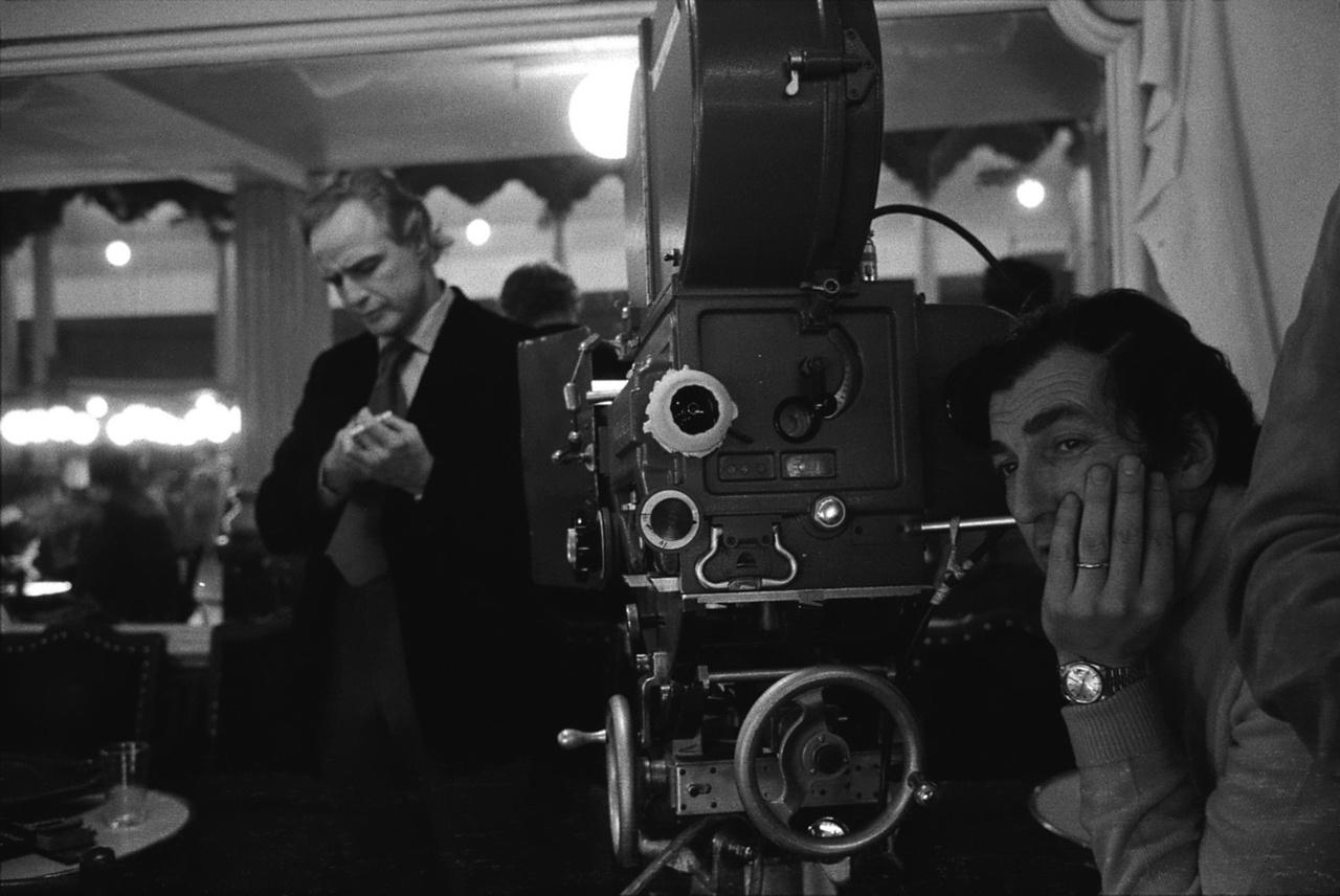 Bernardo Bertolucci y Marlon Brando en el rodaje de  Last Tango In Paris
