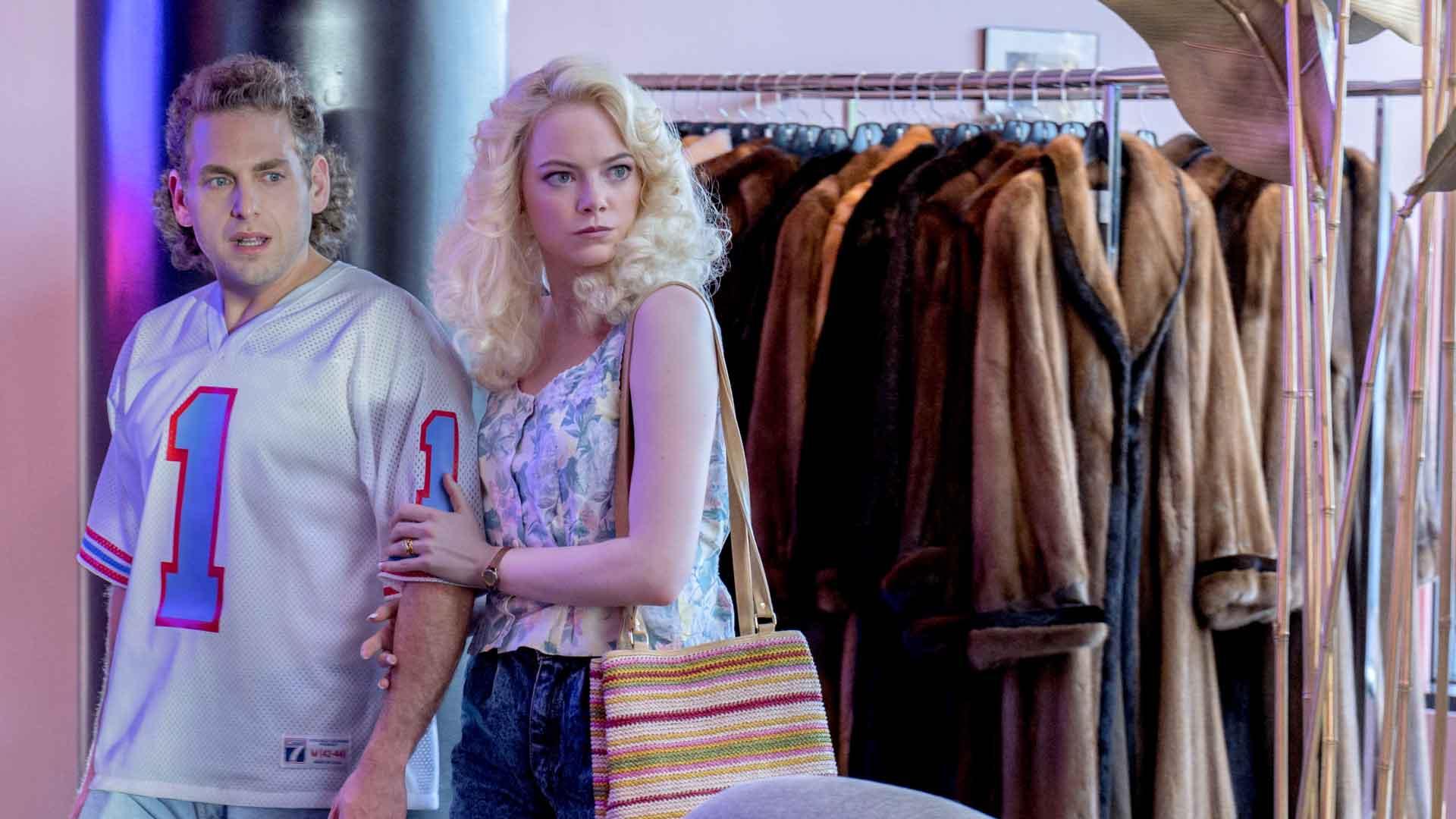Jonah Hill y Emma Stone en  Maniac  (Netflix)