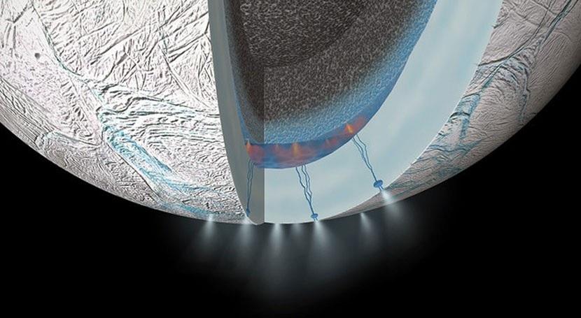 Encelado. Foto por: NASA