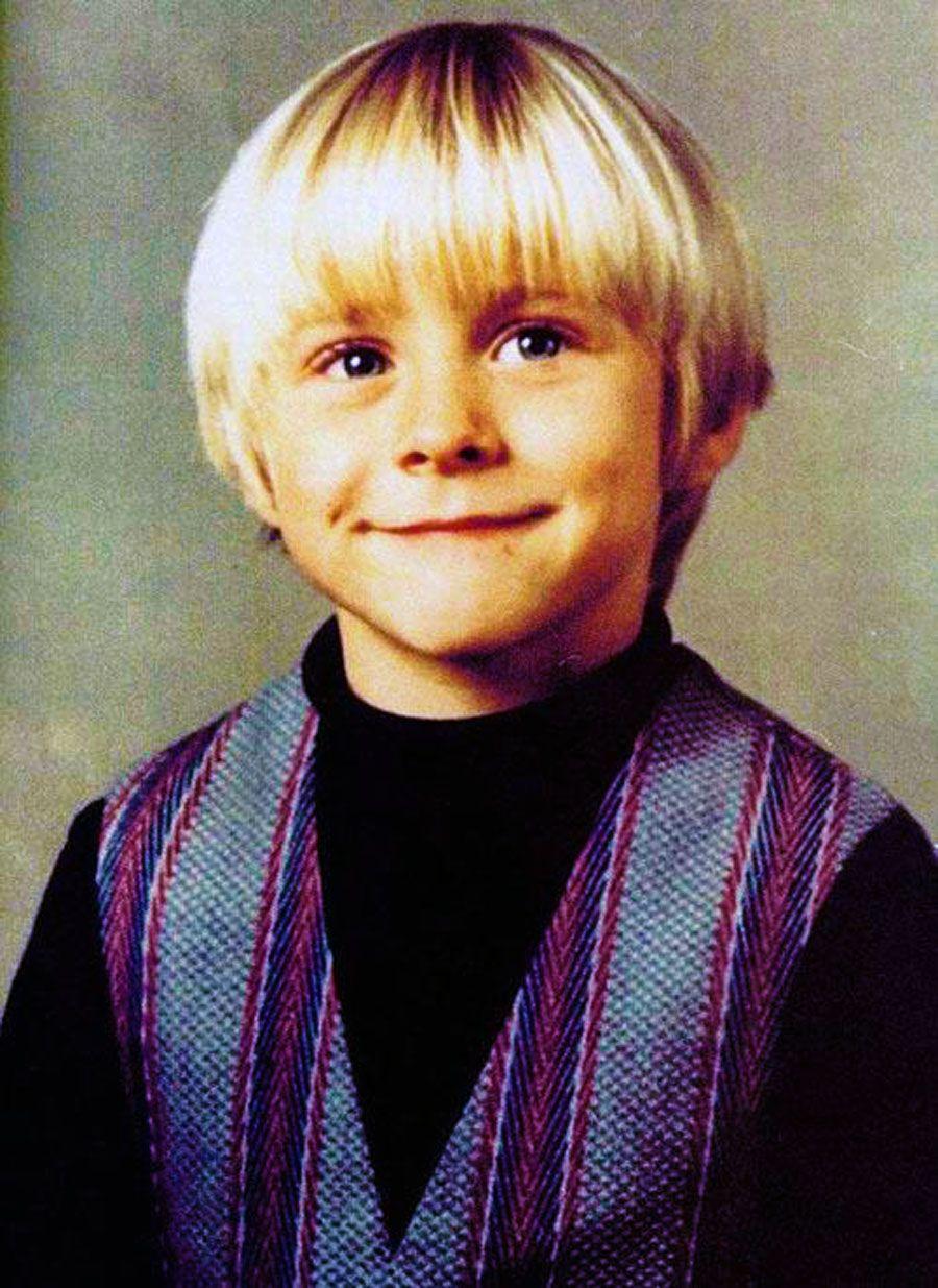 Kurt Cobain, niño. Foto vía Pinterest