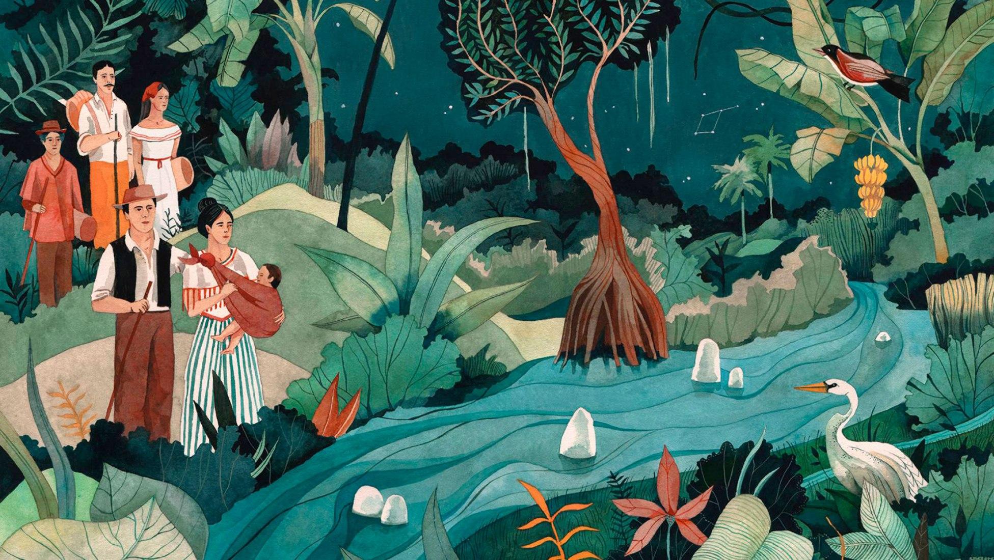 Ilustración para  Cien años de soledad  por Luisa Rivera