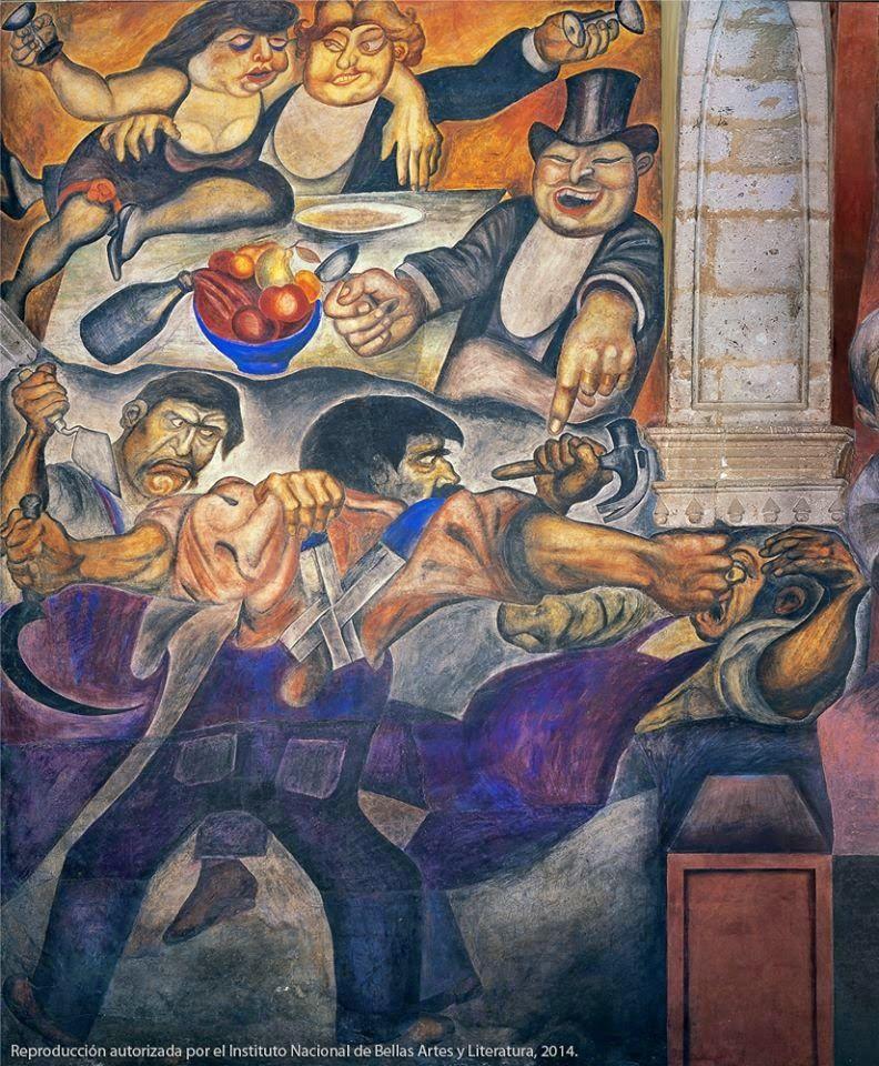 'El banquete de los ricos', José Clemente Orozco / Foto vía Printerest