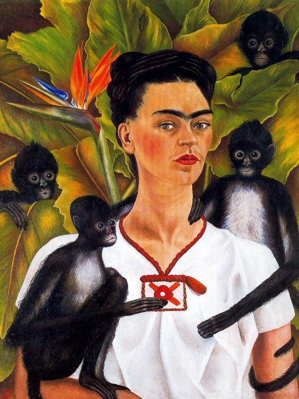'Autorretrato con monos' Kahlo/ Foto vía Casandra Morfin