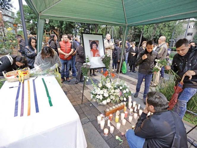 Funeral de la activista Cristina Vázquez Chavarría.  Foto vía Excélsior / Sunny Quintero.