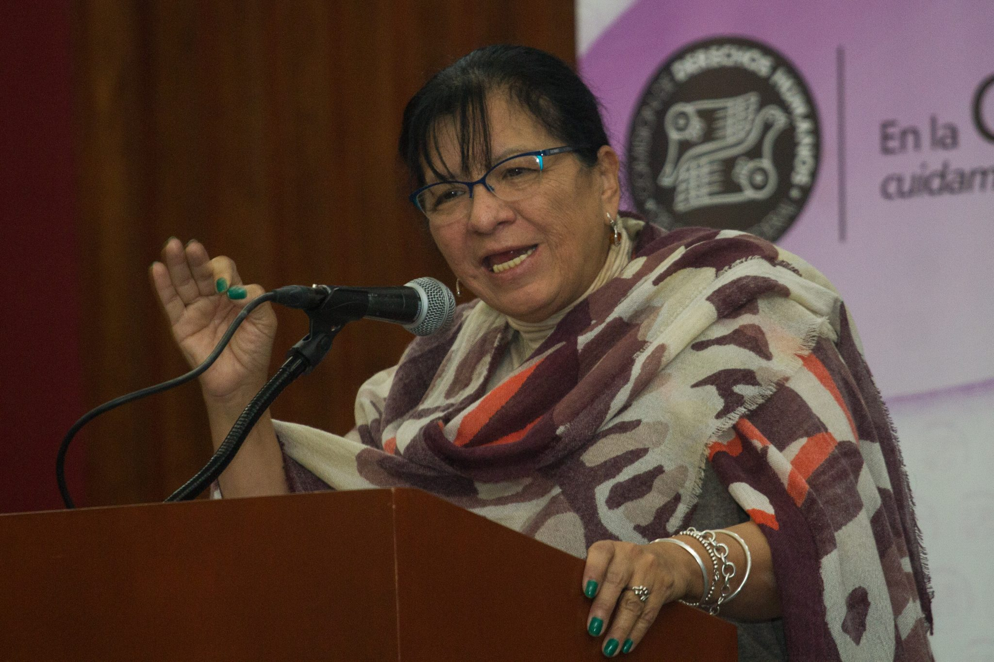 Nashieli Ramírez, presidenta de la CDHDF. Imagen vía Diario Basta.