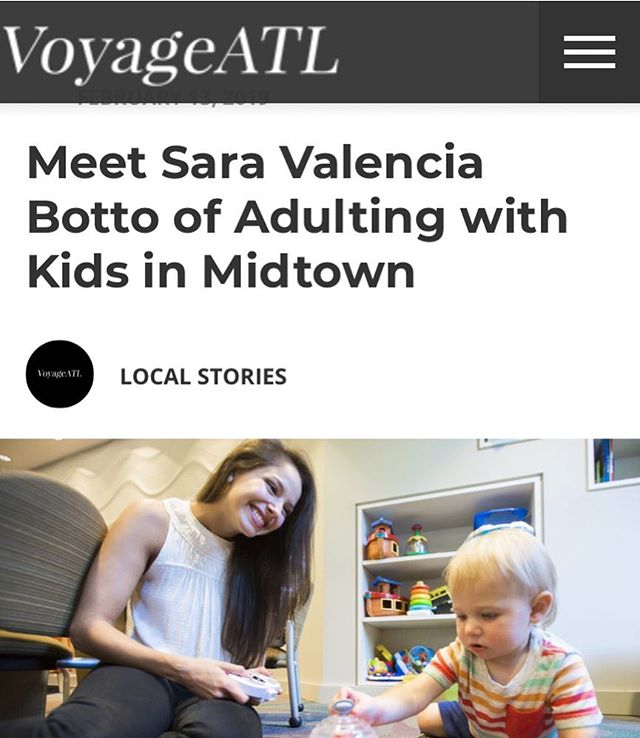 Loved getting to tell Dianne at @voyageatl a little bit about our blog. Check out the interview here ➡️ http://voyageatl.com/interview/meet-sara-valencia-botto-adulting-kids-midtown/ #adultingwithkids #blog #atlmoms #childdevelopment #science #sisters #midtown
