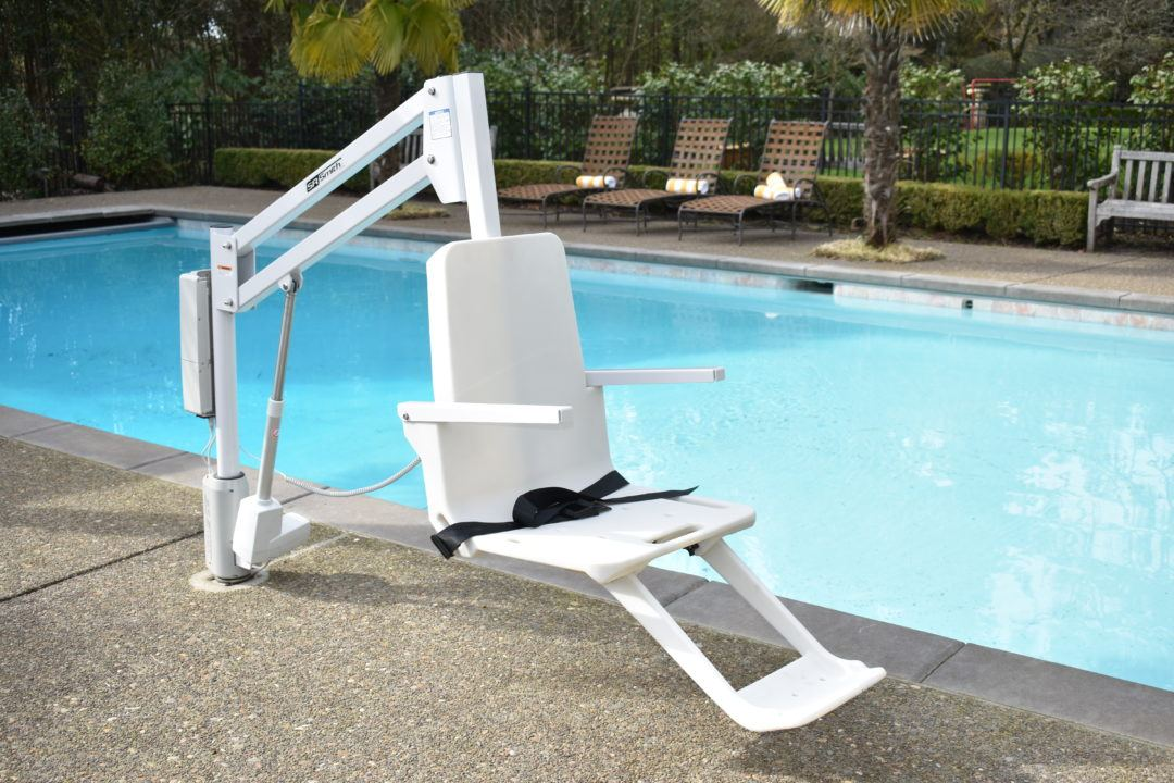 aXs 2 Pool Hoist for residential and commercial swimming pool access