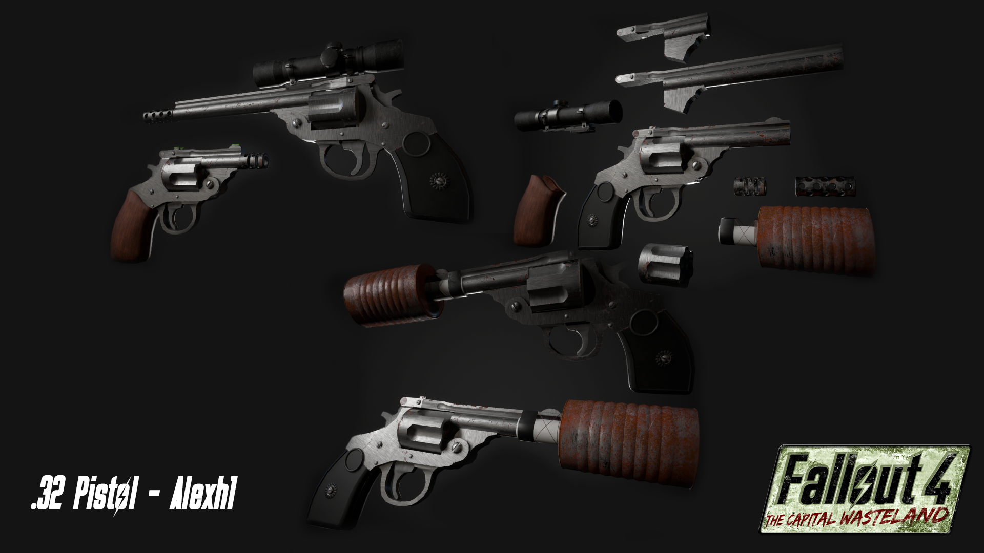Alexh1 showcases the .32 Pistol and associated Weapon Mods