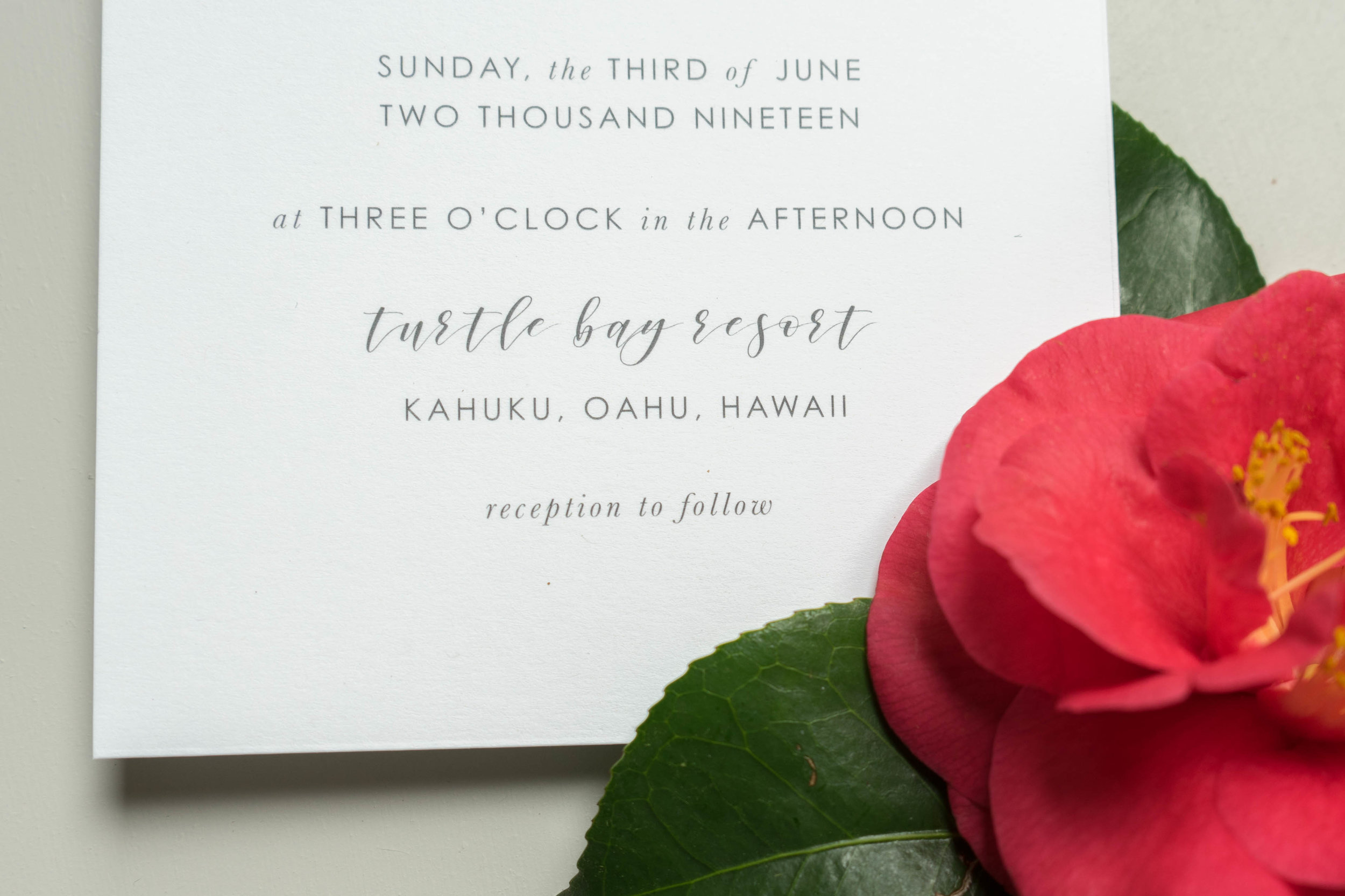 Tropical Floral Wedding Invitation by Just Jurf