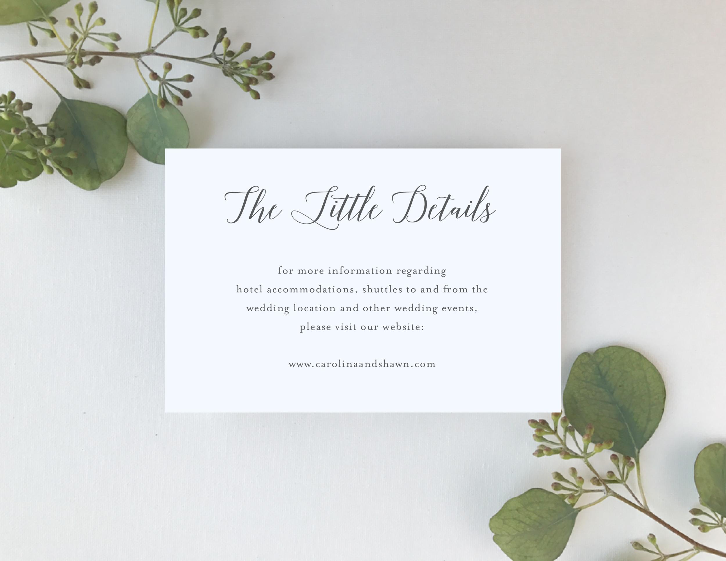 Elegant Calligraphy Wedding Invitation by Just Jurf