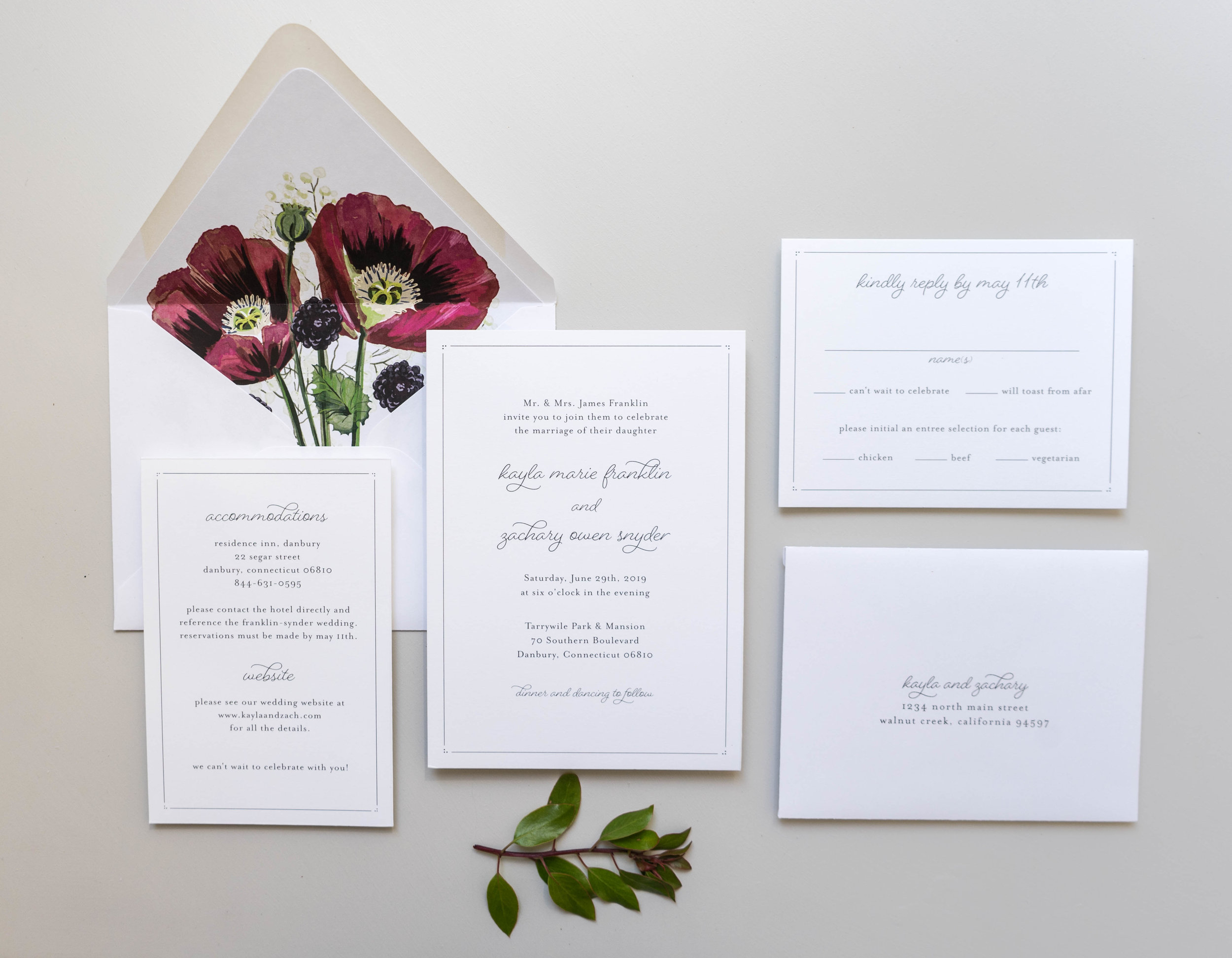 *Burgundy Poppy Wedding Invitations by Just Jurf-4.jpg
