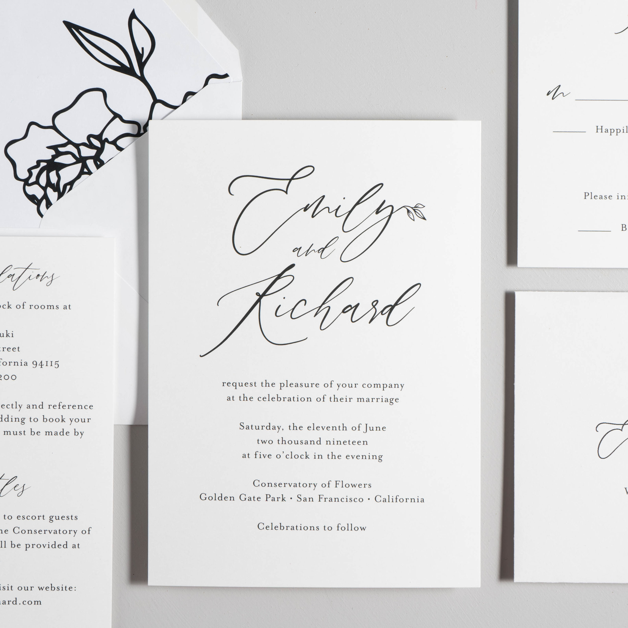 *Minimalist Leaf Wedding Invitations by Just Jurf-7.jpg