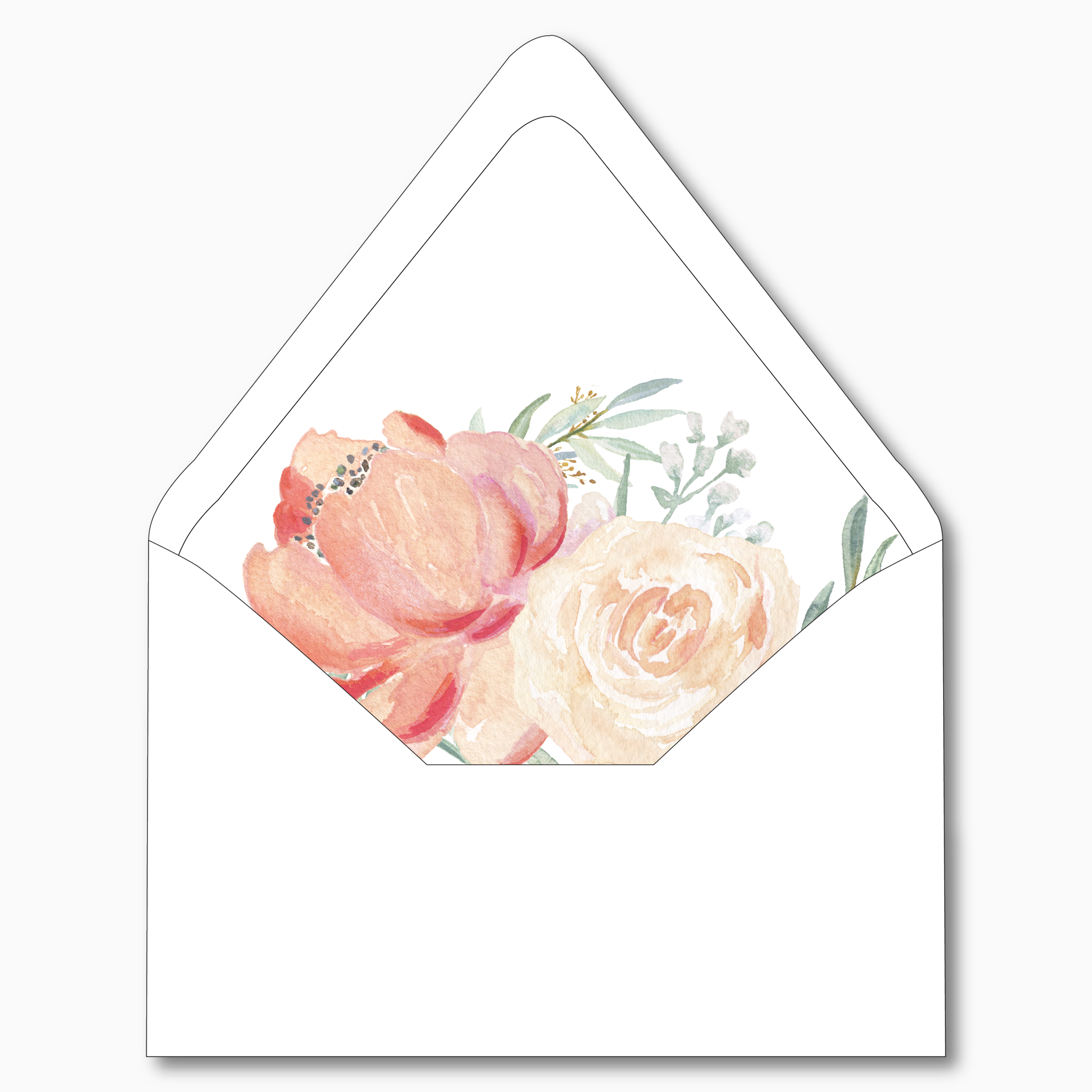 NC31 Peach Watercolor Floral V2