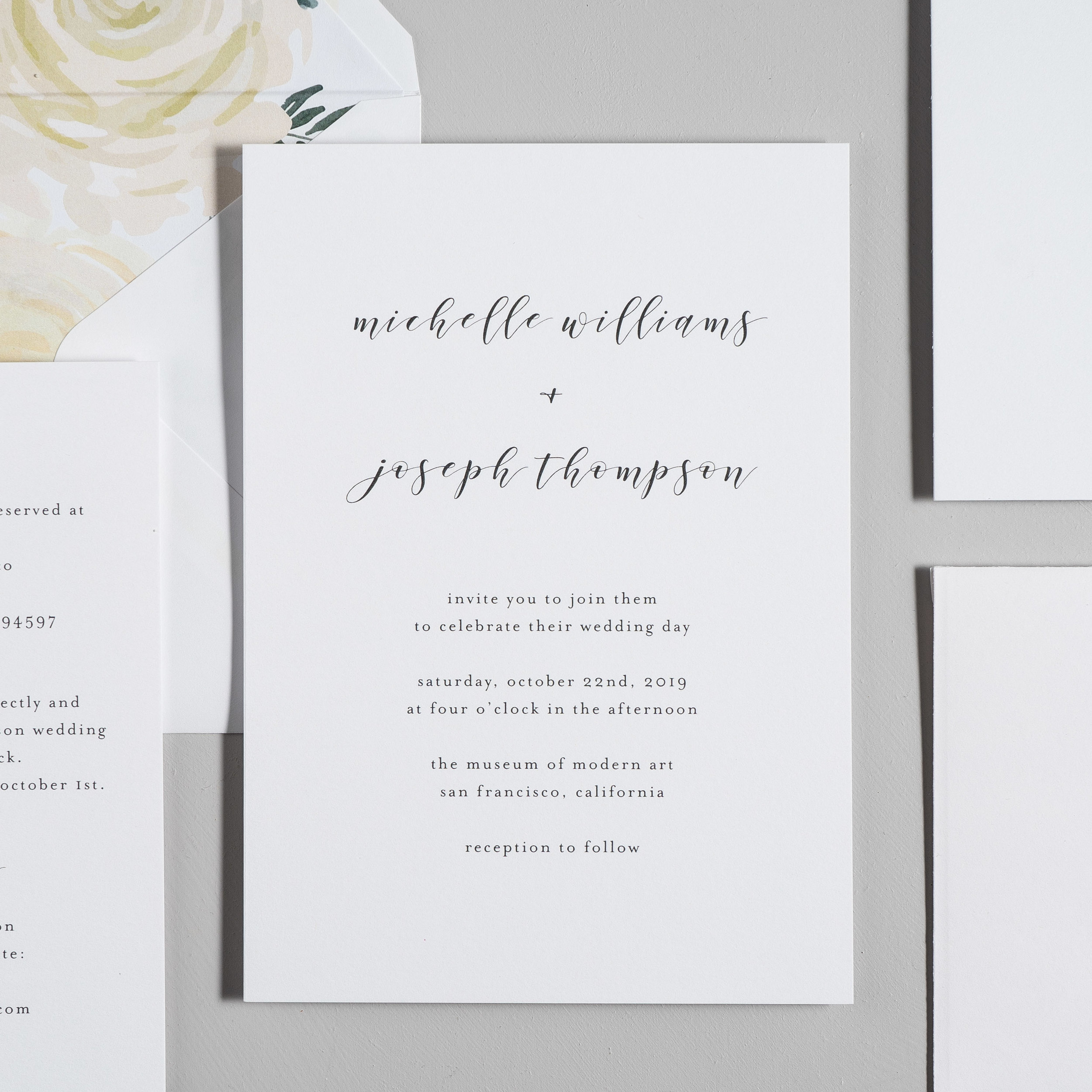 Minimalist Floral Wedding Invitations by Just Jurf-2.jpg