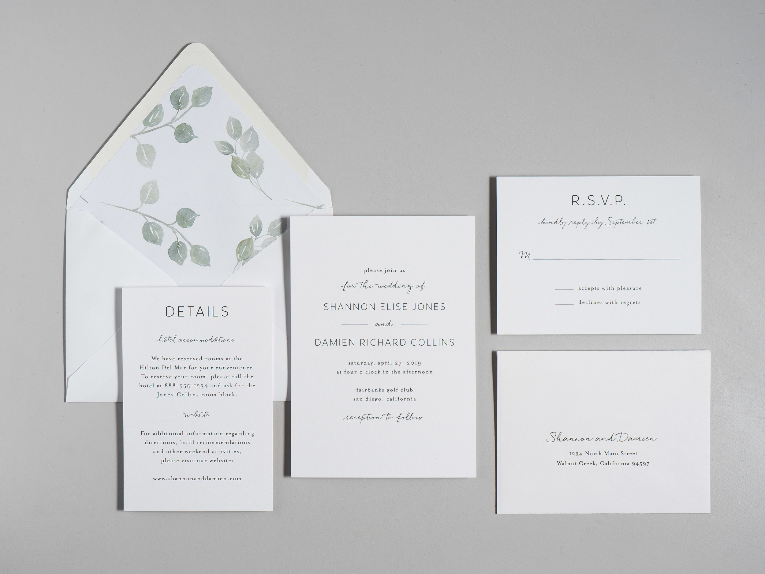Eucalyptus Minimalist V2 Wedding Invitations by Just Jurf-1.jpg