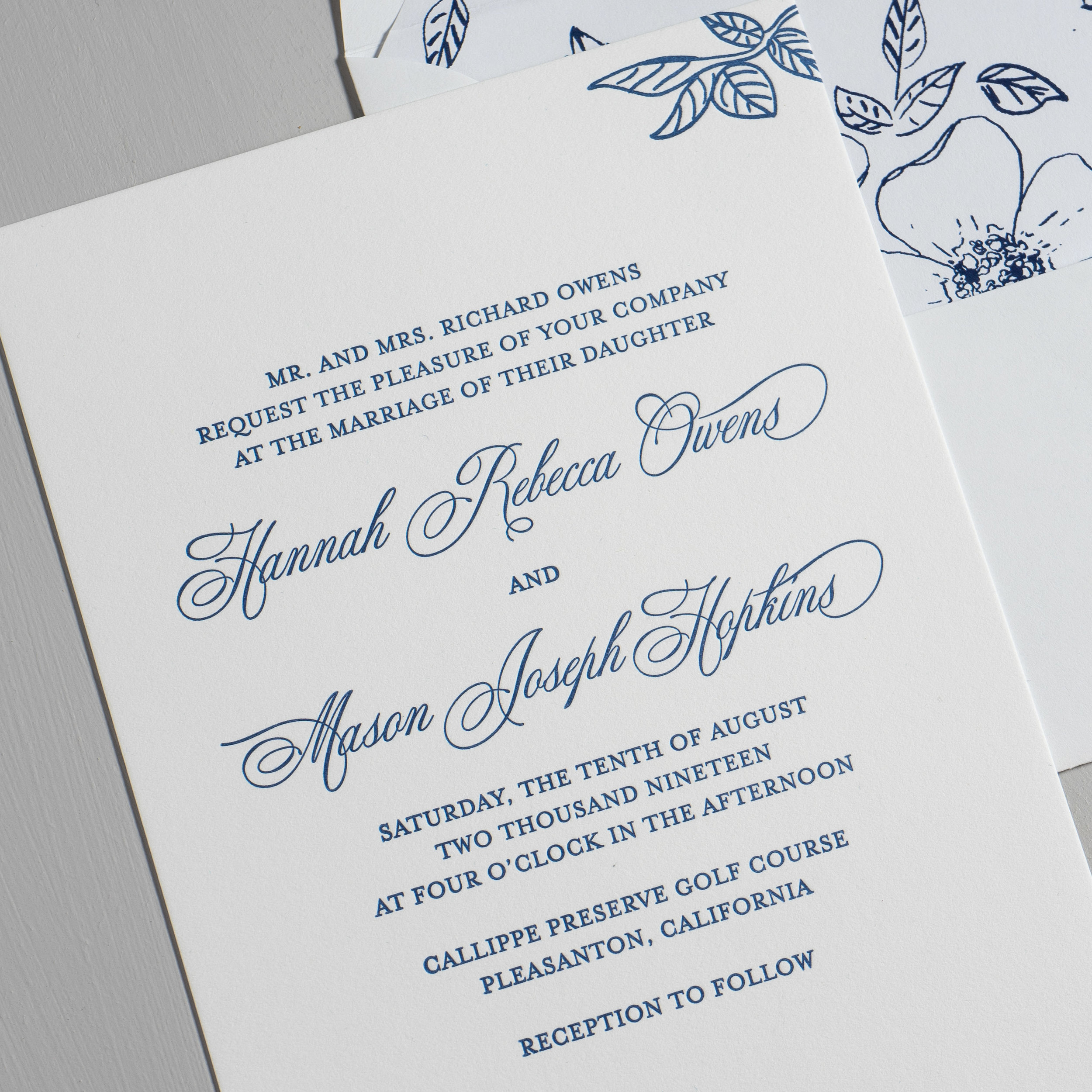 Elegant Anemone Letterpress Wedding Invitations by Just Jurf-8a.jpg