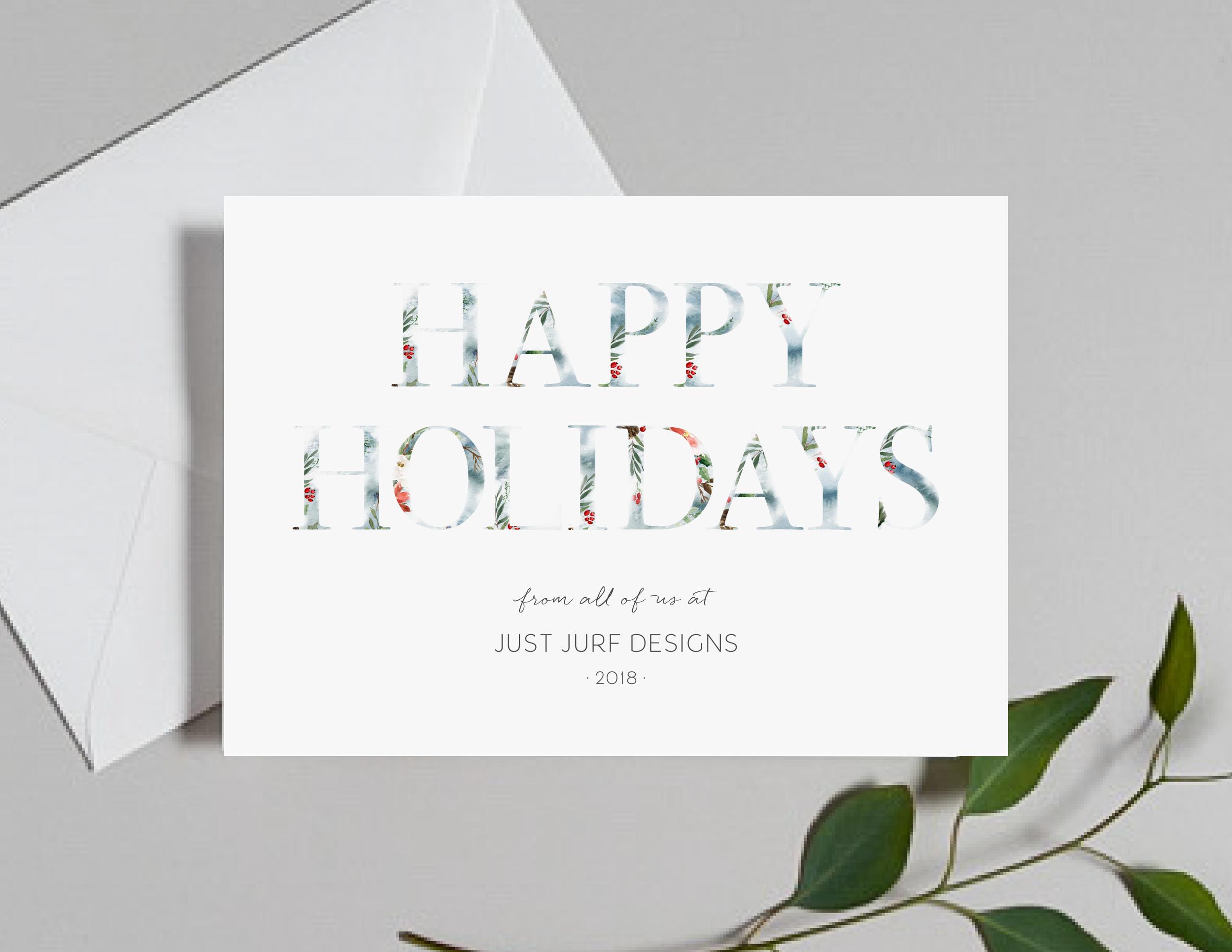 Holly Holidays Holiday Card