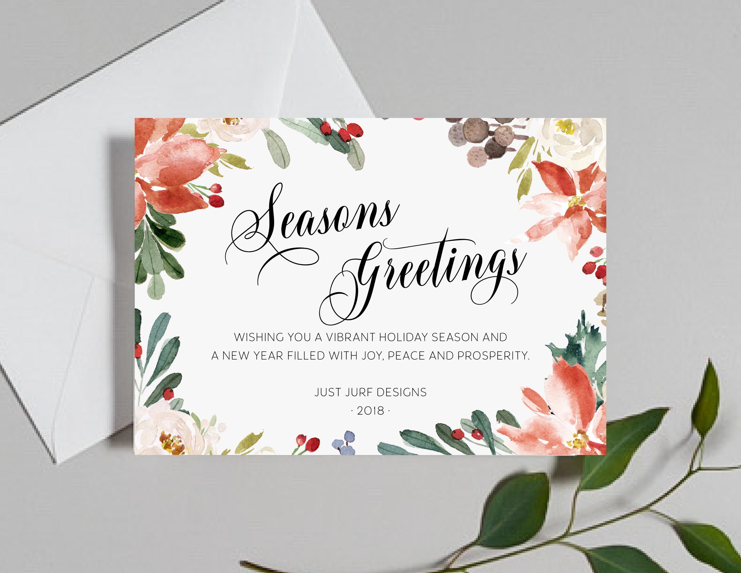 Vibrant Greetings Holiday Card