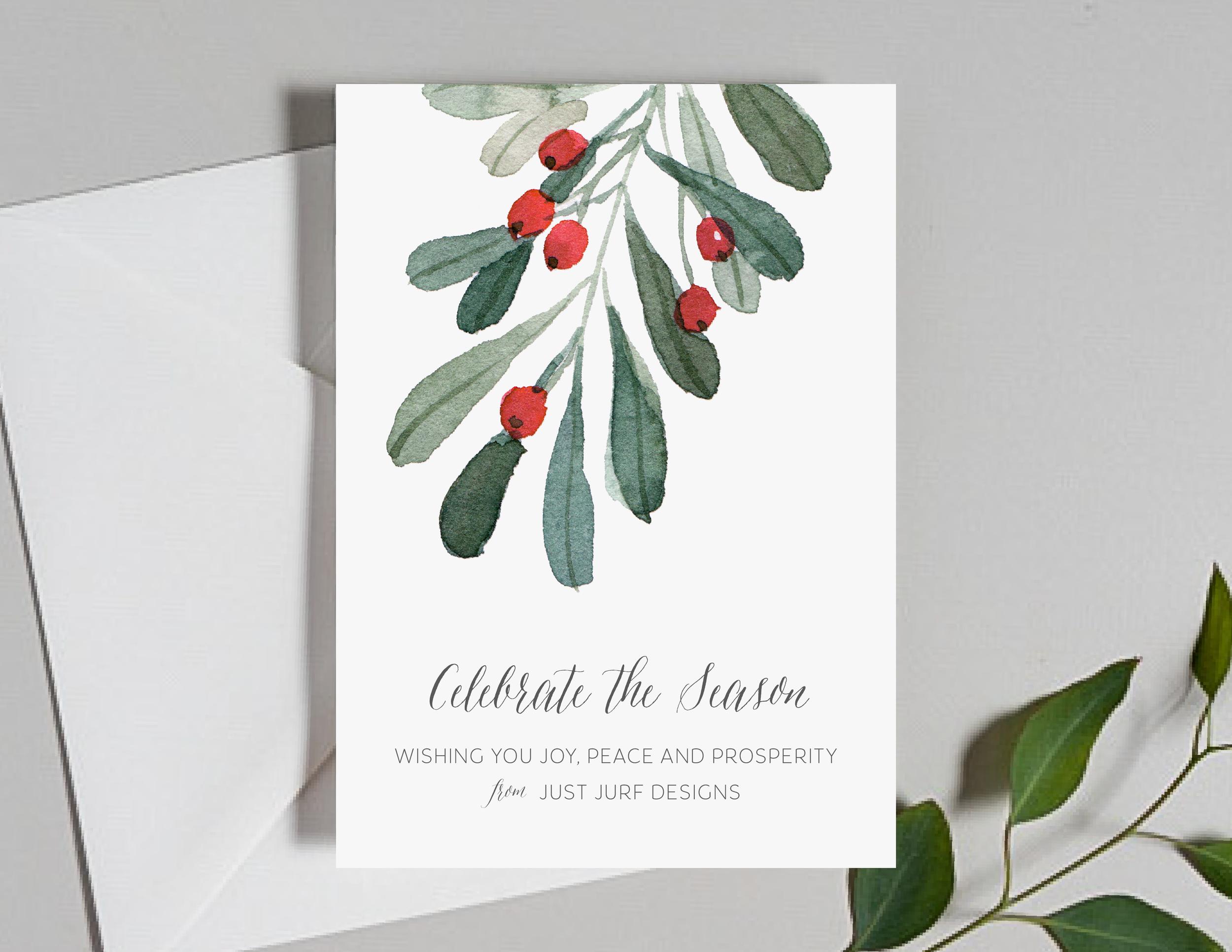 Holiday Celebrations Holiday Card
