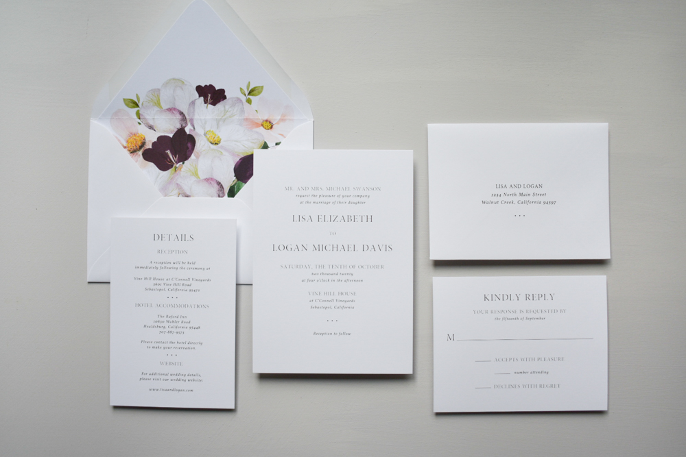 Garden Floral Wedding Invitation Suite by Just Jurf-1.jpg