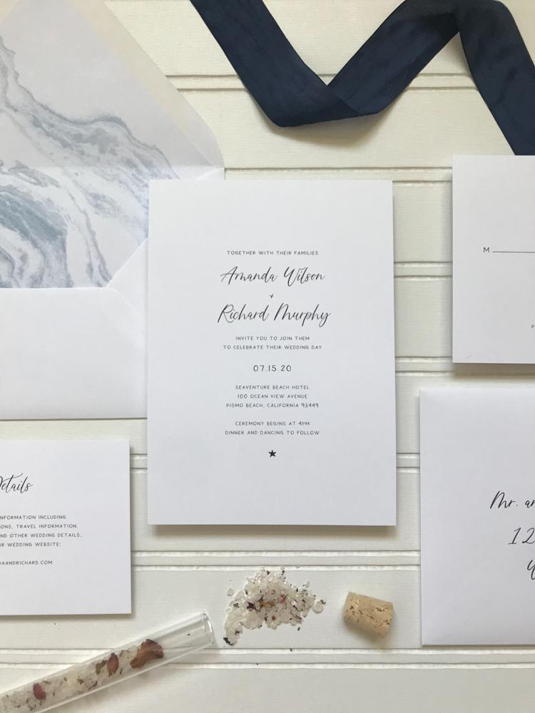 *Blue Marble Beach Wedding Invitation Suite by Just Jurf-5.jpg