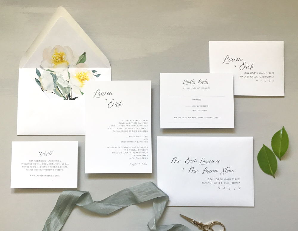 Asymmetrical Floral Wedding Invitation by Just Jurf-1.jpg