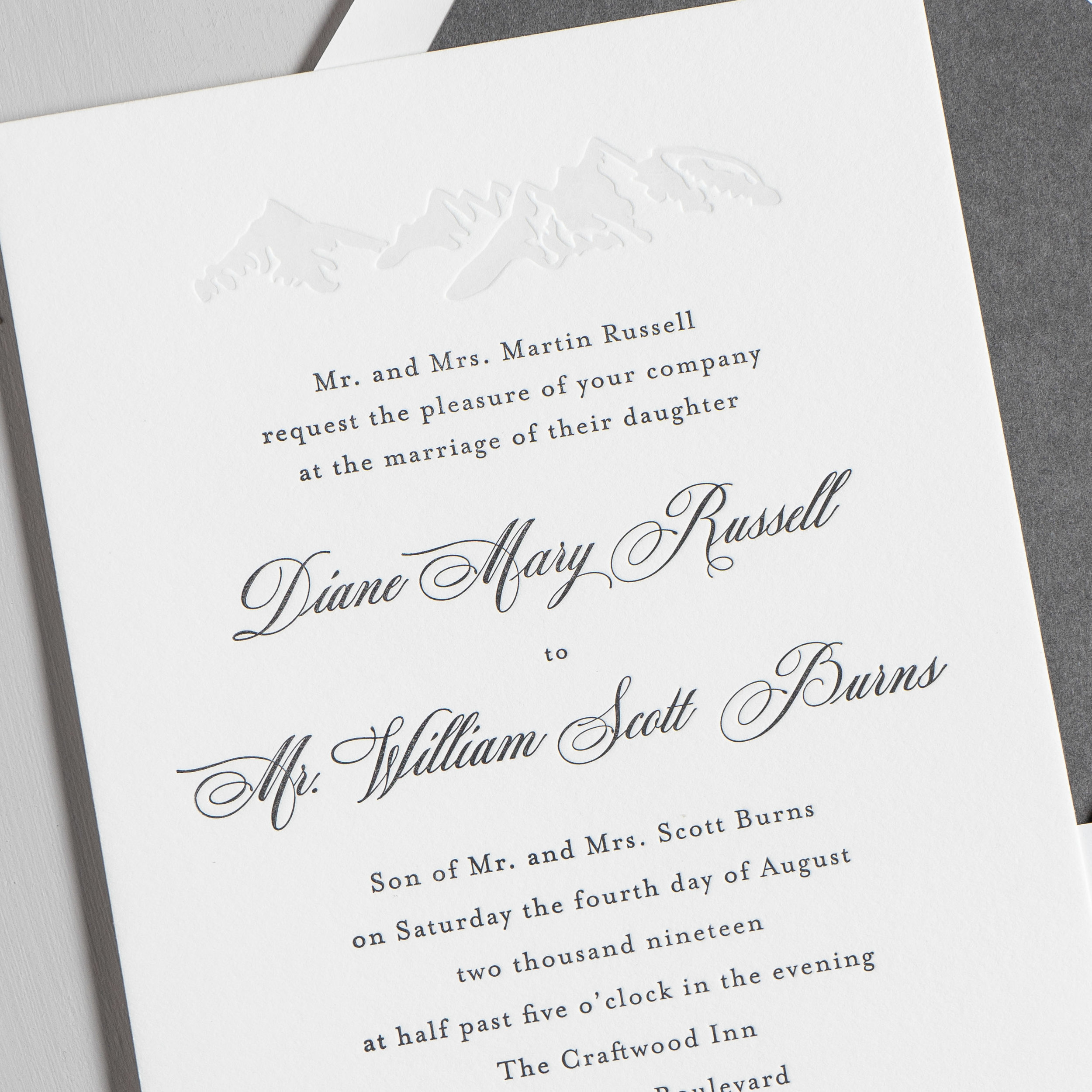 Classic Mountain Letterpress Wedding Invitations by Just Jurf-8a.jpg