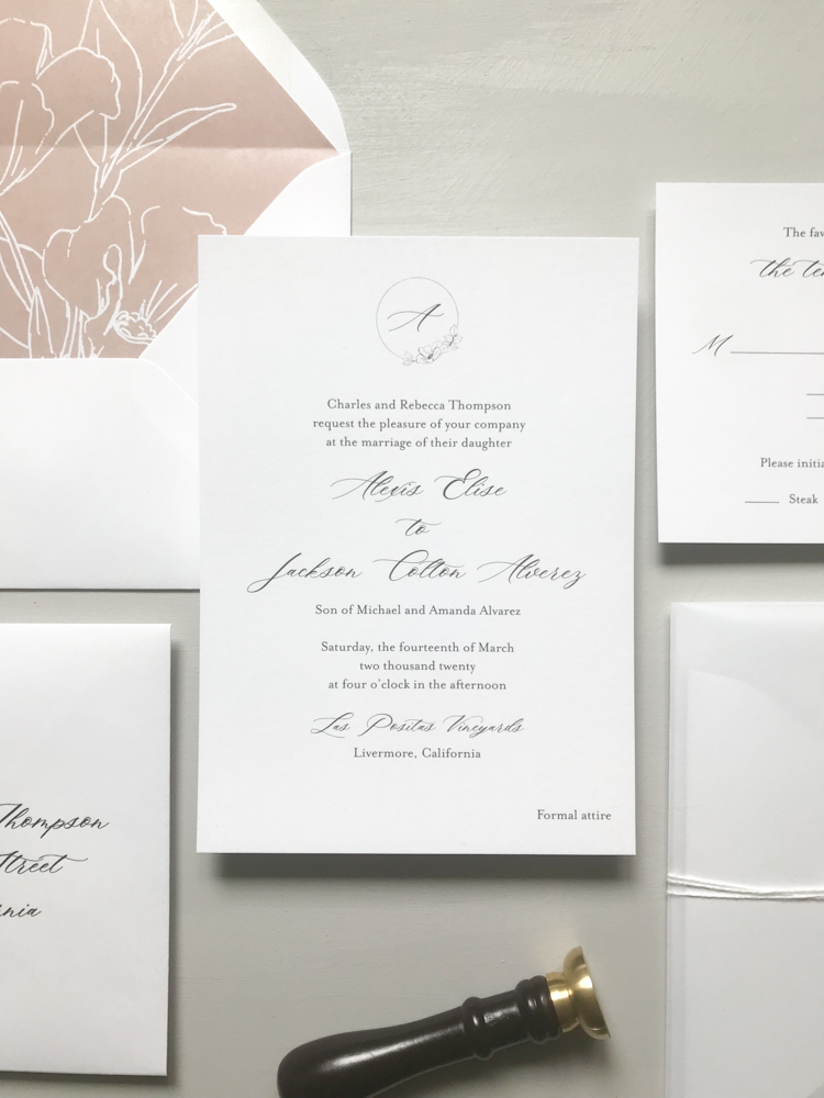 Mauve Floral Wedding Invitation Suite by Just Jurf Designs-7.jpg