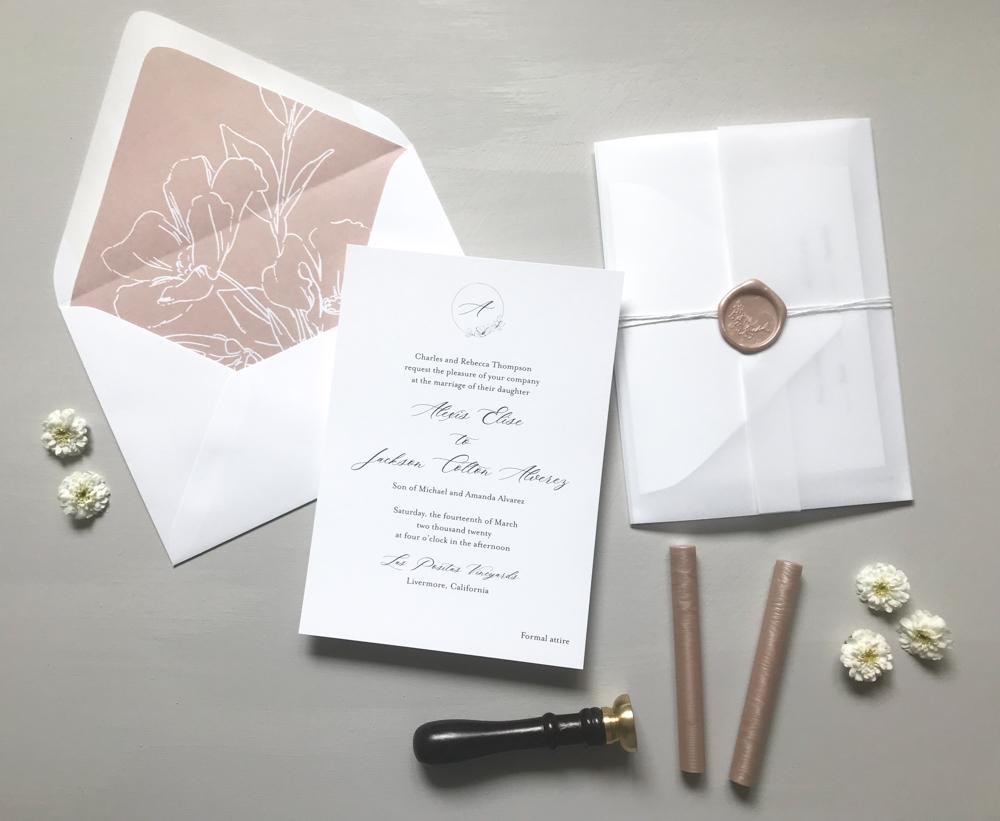 Mauve Floral Wedding Invitation Suite by Just Jurf Designs-12.jpg