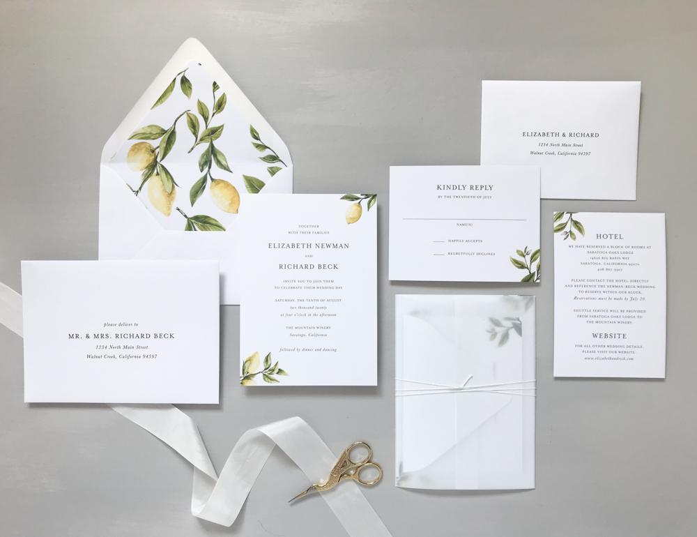 *Lemon Citrus Wedding Invitation Suite by Just Jurf-9.jpg