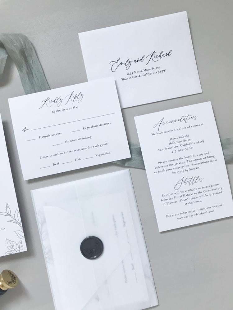 *Modern Botanical Wedding Invitation Suite by Just Jurf-8.jpg