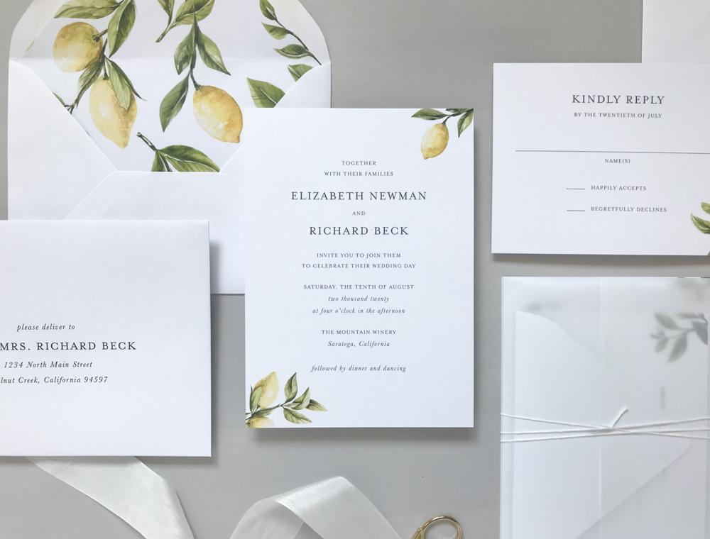 *Lemon Citrus Wedding Invitation Suite by Just Jurf-2.jpg