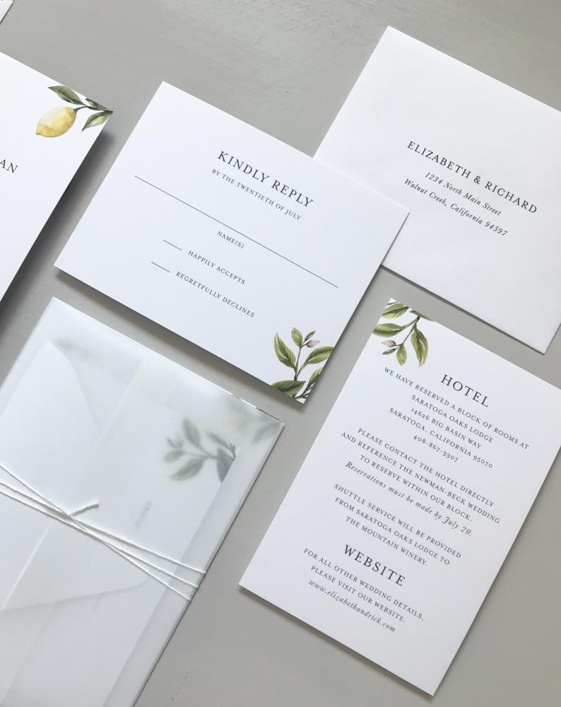 *Lemon Citrus Wedding Invitation Suite by Just Jurf-4.jpg