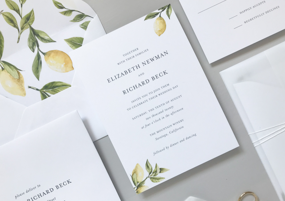 *Lemon Citrus Wedding Invitation Suite by Just Jurf-5.jpg